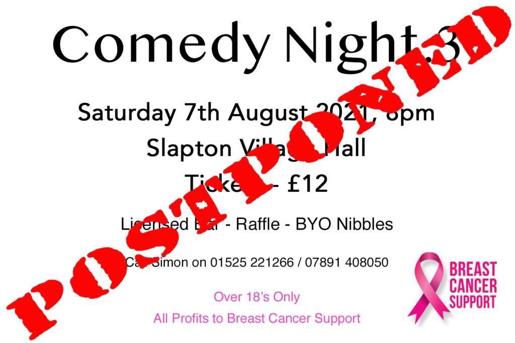 Comedy Night Postponed