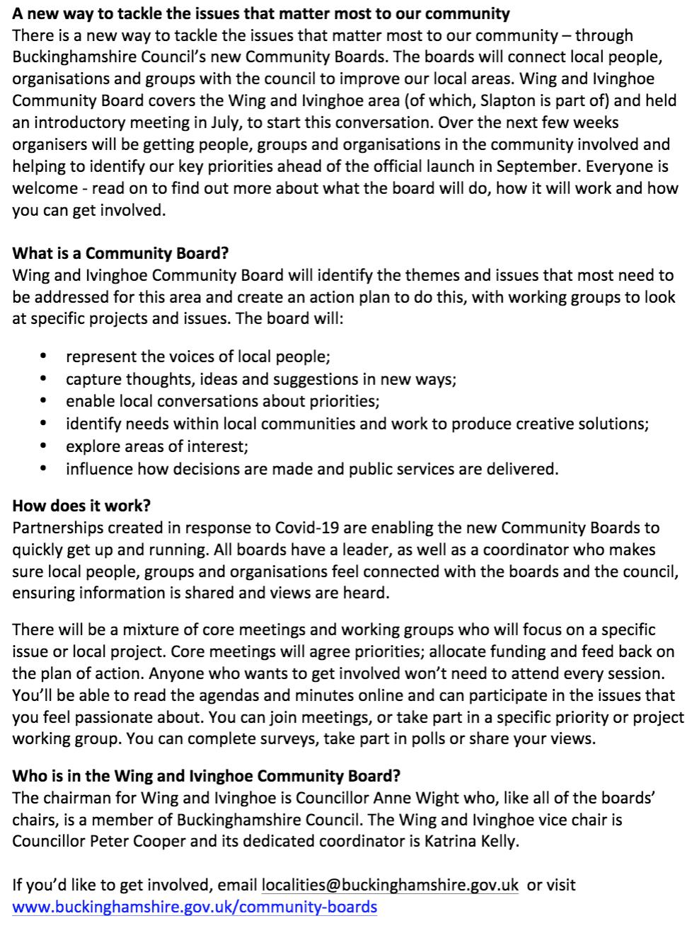 Community Boards