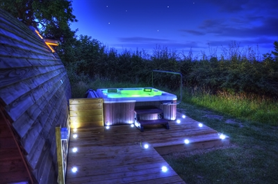 Hot Tub And Starry Sky