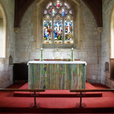 Picture of the Altar at Holy Cross Church in Slapton